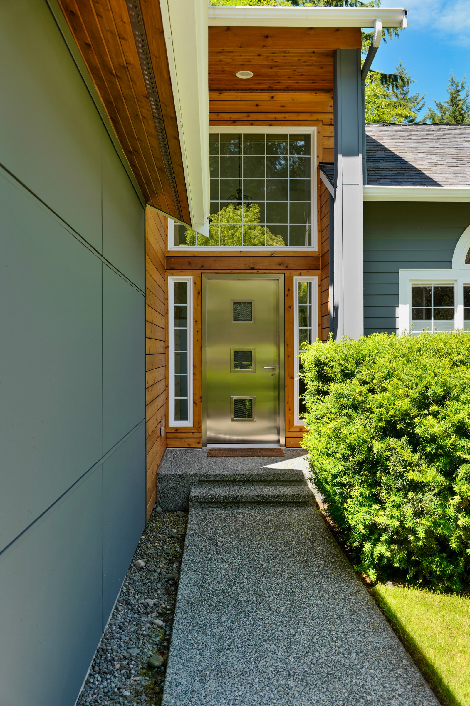 Inviting entrance with Cedar accents