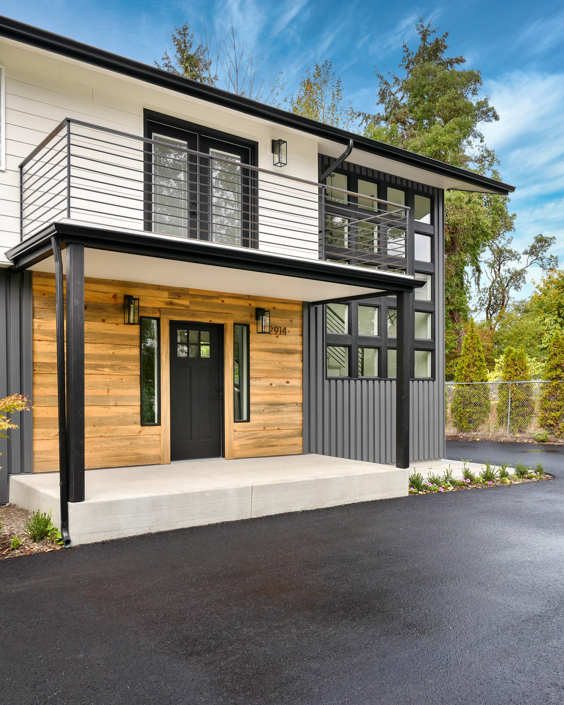 James Hardie lap with reclaimed wood and metal siding in Seattle, WA